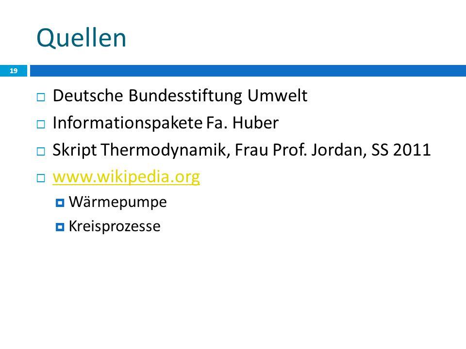 Quellen Deutsche Bundesstiftung Umwelt Informationspakete Fa.