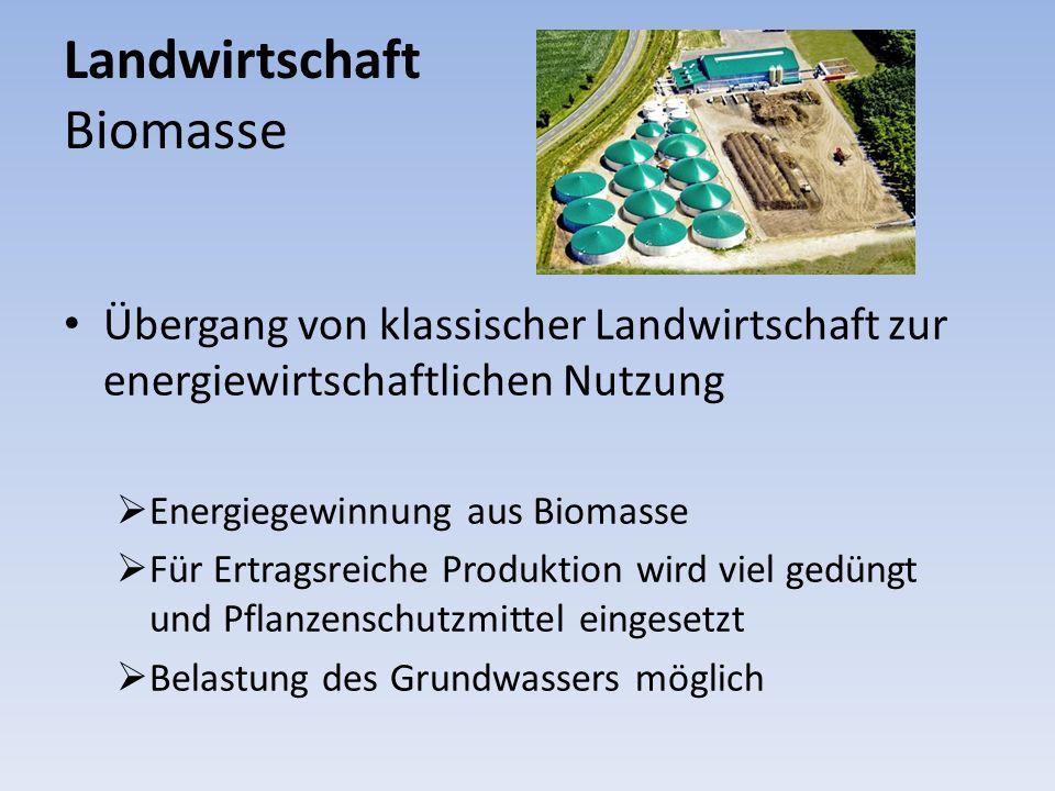 Landwirtschaft Biomasse Übergang von klassischer Landwirtschaft zur energiewirtschaftlichen Nutzung Energiegewinnung aus Biomasse Für Ertragsreiche Pr