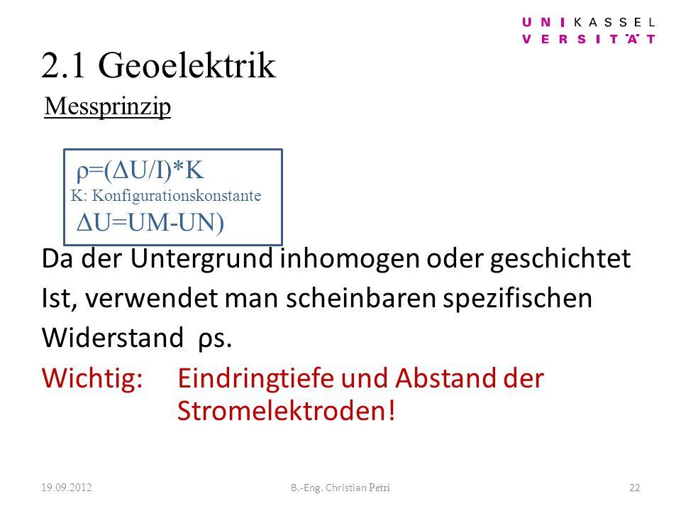 2.1 Geoelektrik 19.09.2012 22B.-Eng.