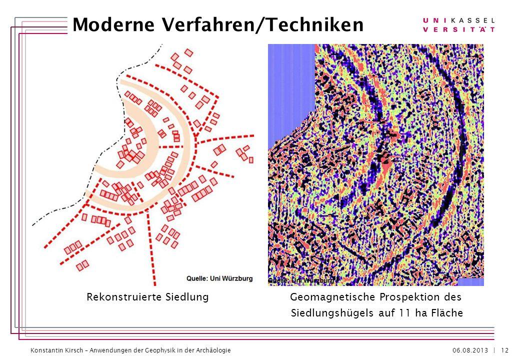 Konstantin Kirsch – Anwendungen der Geophysik in der Archäologie 06.08.2013 | Moderne Verfahren/Techniken 12 Geomagnetische Prospektion des Siedlungsh