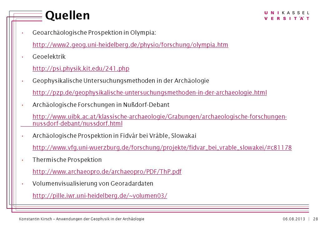 Konstantin Kirsch – Anwendungen der Geophysik in der Archäologie 06.08.2013 | Quellen Geoarchäologische Prospektion in Olympia: http://www2.geog.uni-h