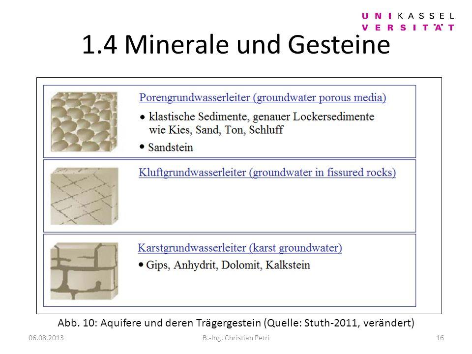 1.4 Minerale und Gesteine 06.08.2013B.-Ing.Christian Petri16 Abb.