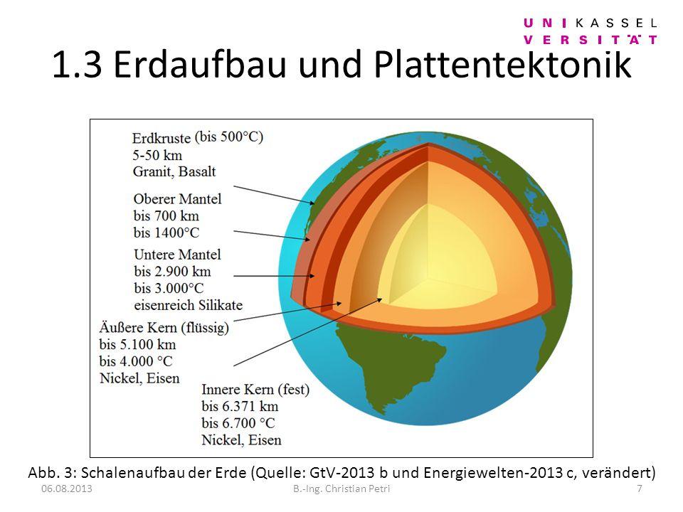 1.3 Erdaufbau und Plattentektonik 06.08.20137B.-Ing.