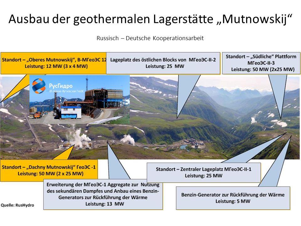 Ausbau der geothermalen Lagerstätte Mutnowskij Russisch – Deutsche Kooperationsarbeit