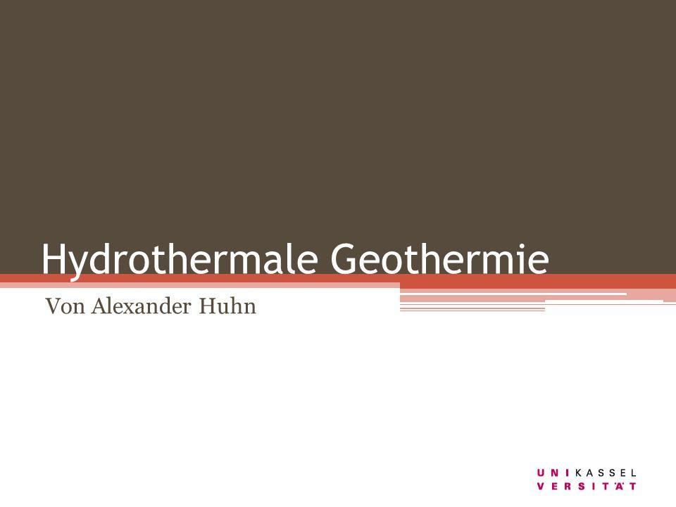 Hydrothermale Geothermie Von Alexander Huhn