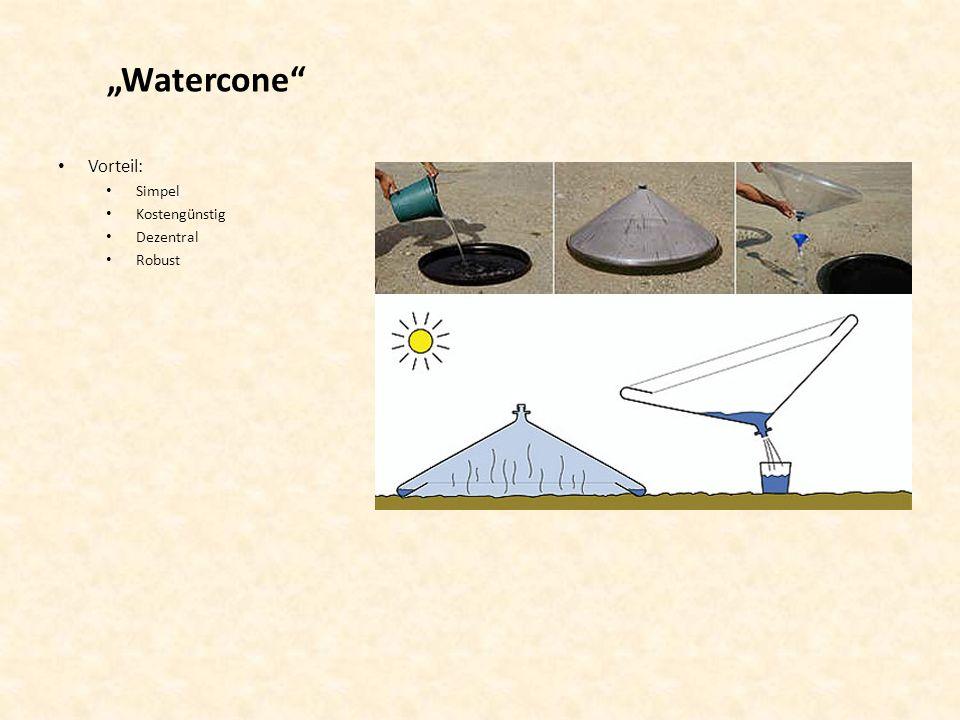 Watercone Vorteil: Simpel Kostengünstig Dezentral Robust