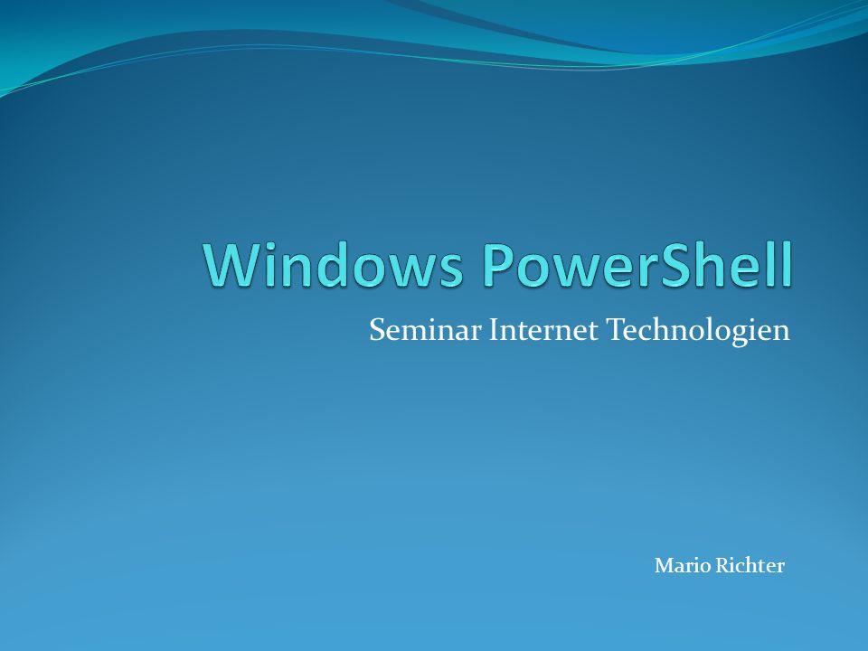 Seminar Internet Technologien Mario Richter