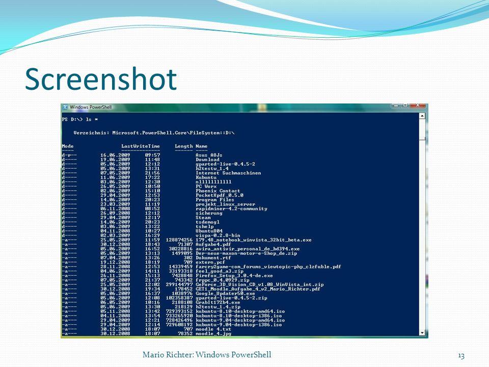 Screenshot 13Mario Richter: Windows PowerShell