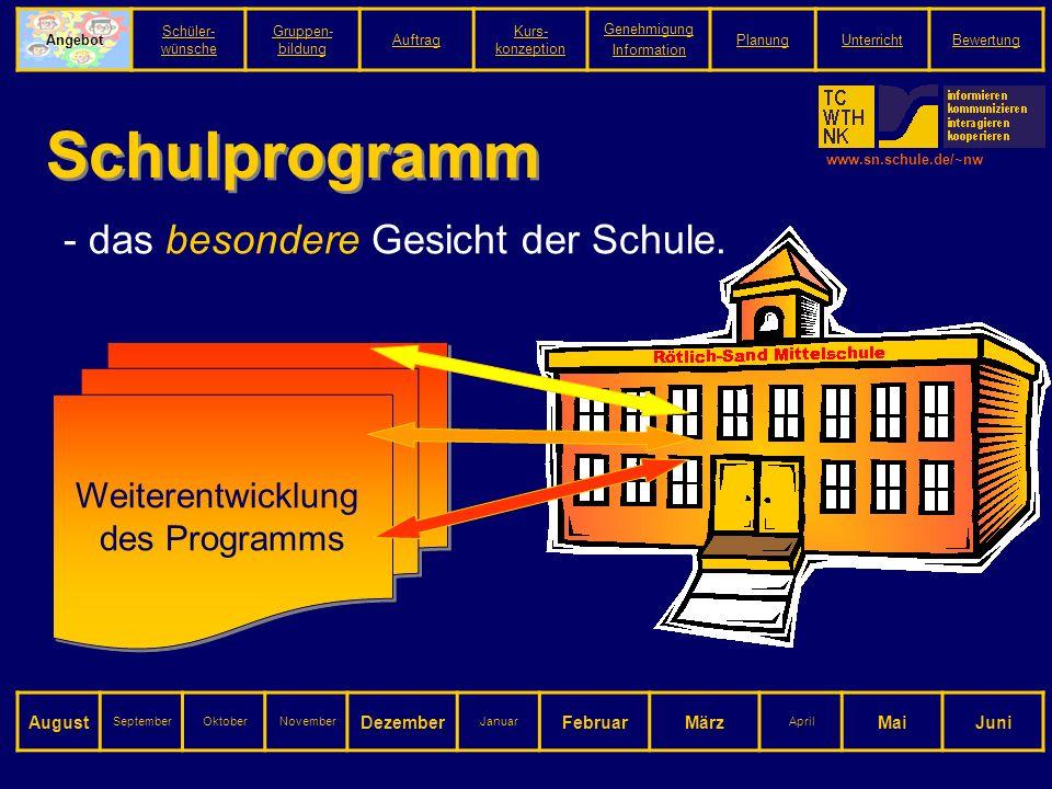 www.sn.schule.de/~nw Schulprogramm - das besondere Gesicht der Schule.