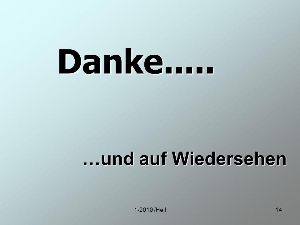 1-2010 /Heil14 Danke..... …und auf Wiedersehen