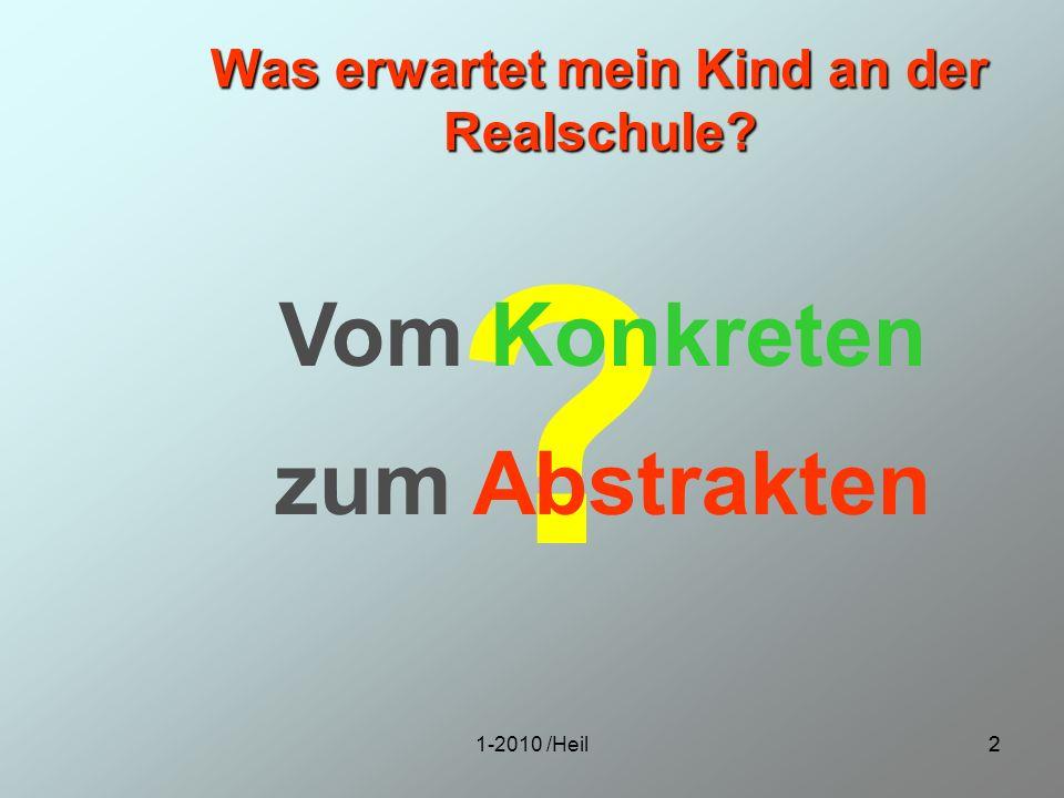 1-2010 /Heil13 Schlussbemerkungen Schule nicht unter Zwang besuchen Nicht über – aber auch nicht unterfordert sein Beobachten Sie Ihr Kind, besonders in den Fächern Deutsch und Mathematik