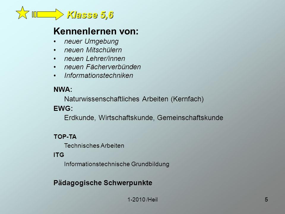 1-2010 /Heil66 Wahlpflichtfach Französisch Mensch und Umwelt Technik Klasse 7, 8 Weiteres Kernfach ab Klasse 7