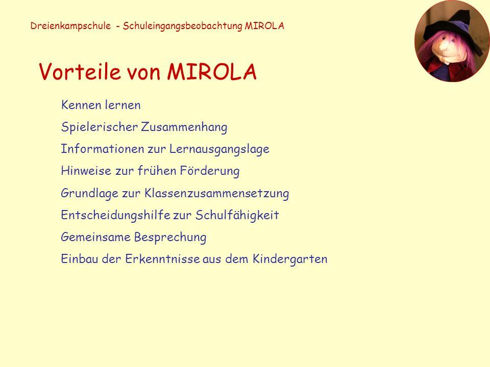 Dreienkampschule - Schuleingangsbeobachtung MIROLA Die Stationen Der Räuber