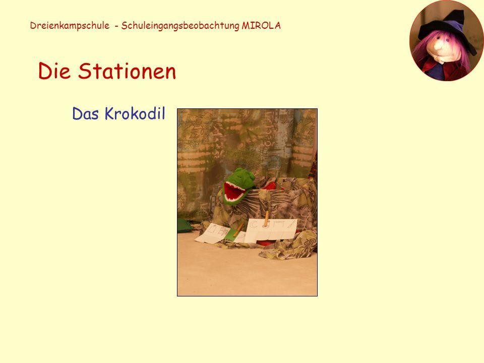 Dreienkampschule - Schuleingangsbeobachtung MIROLA Die Stationen Das Krokodil