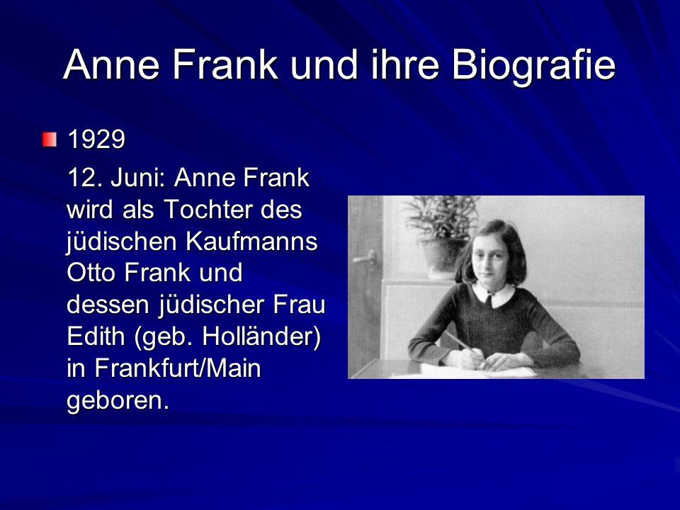 Anne Frank und ihre Biografie 1929 12.