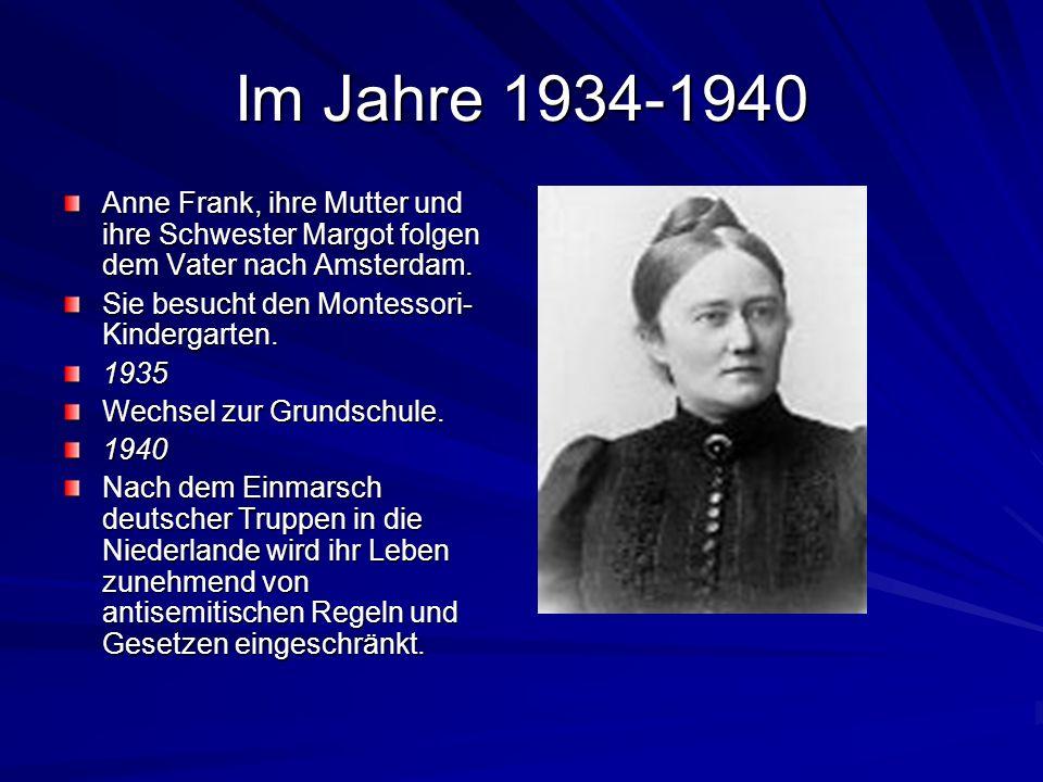 Im Jahre 1933 Nach der Machtübernahme durch die Nationalsozialisten emigriert ihr Vater nach Amsterdam, wo er Direktor der holländischen Niederlassung