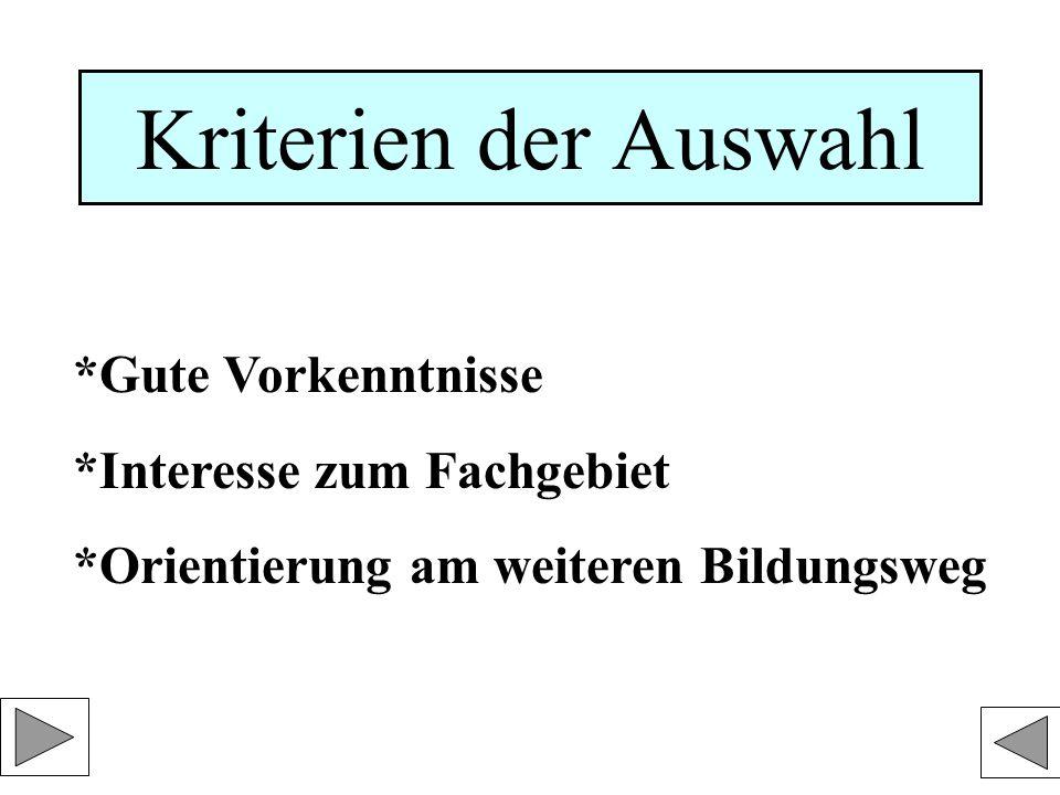 Wahlkombinationen der Lk 1.LK: Deutsch oder Mathematik 2.