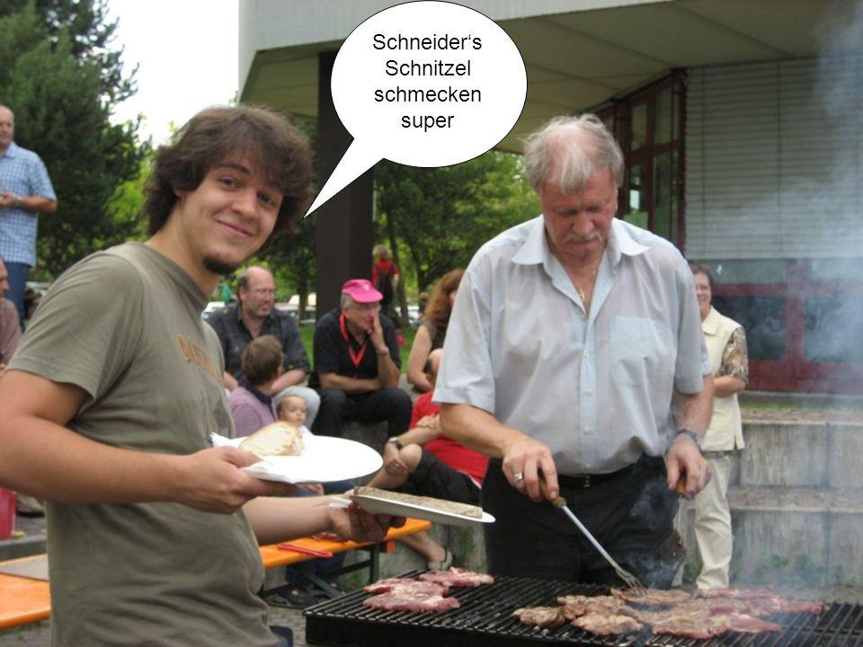 Schneiders Schnitzel schmecken super
