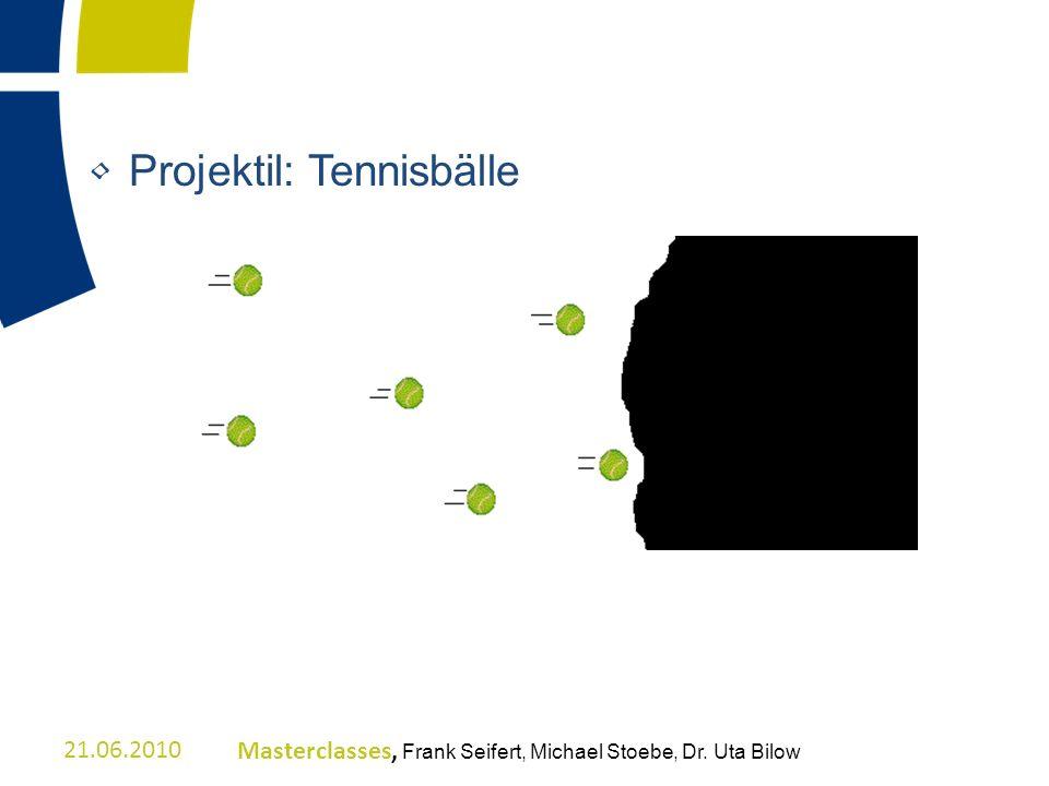 Projektil: Tennisbälle 21.06.2010Masterclasses, Frank Seifert, Michael Stoebe, Dr. Uta Bilow