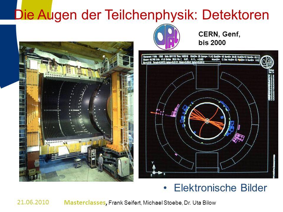 Die Augen der Teilchenphysik: Detektoren Elektronische Bilder CERN, Genf, bis 2000 21.06.2010Masterclasses, Frank Seifert, Michael Stoebe, Dr. Uta Bil