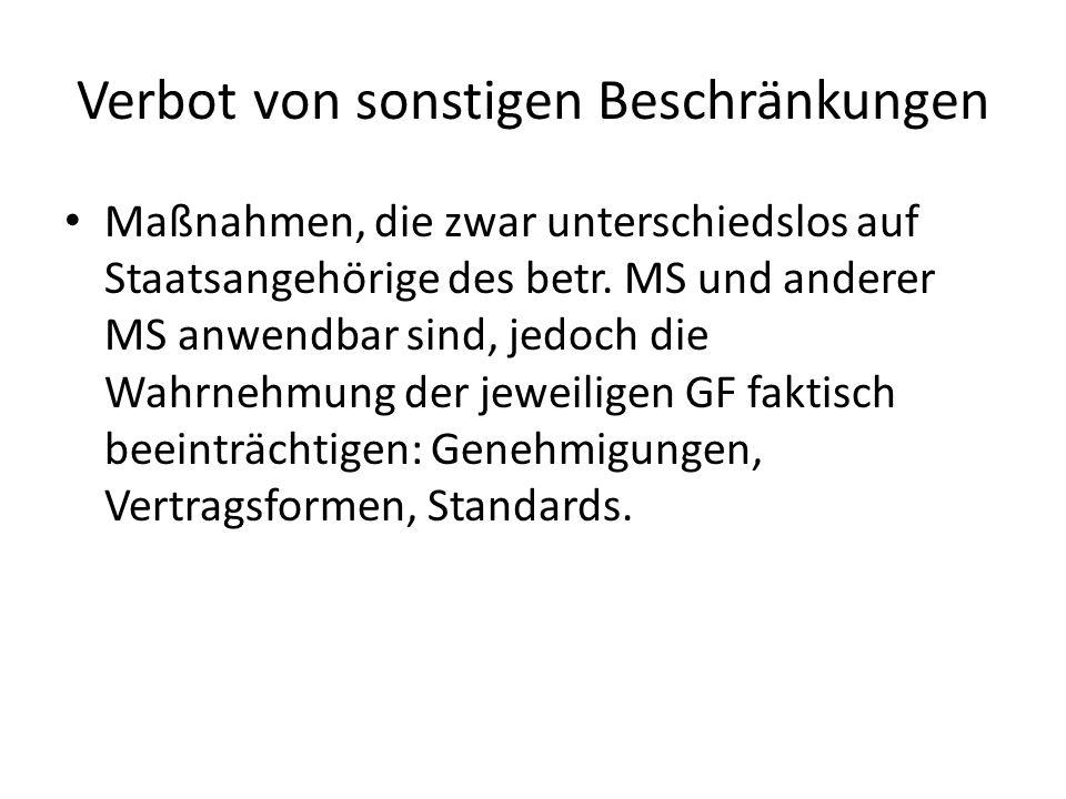 Dienstleistungsfreiheit 2.