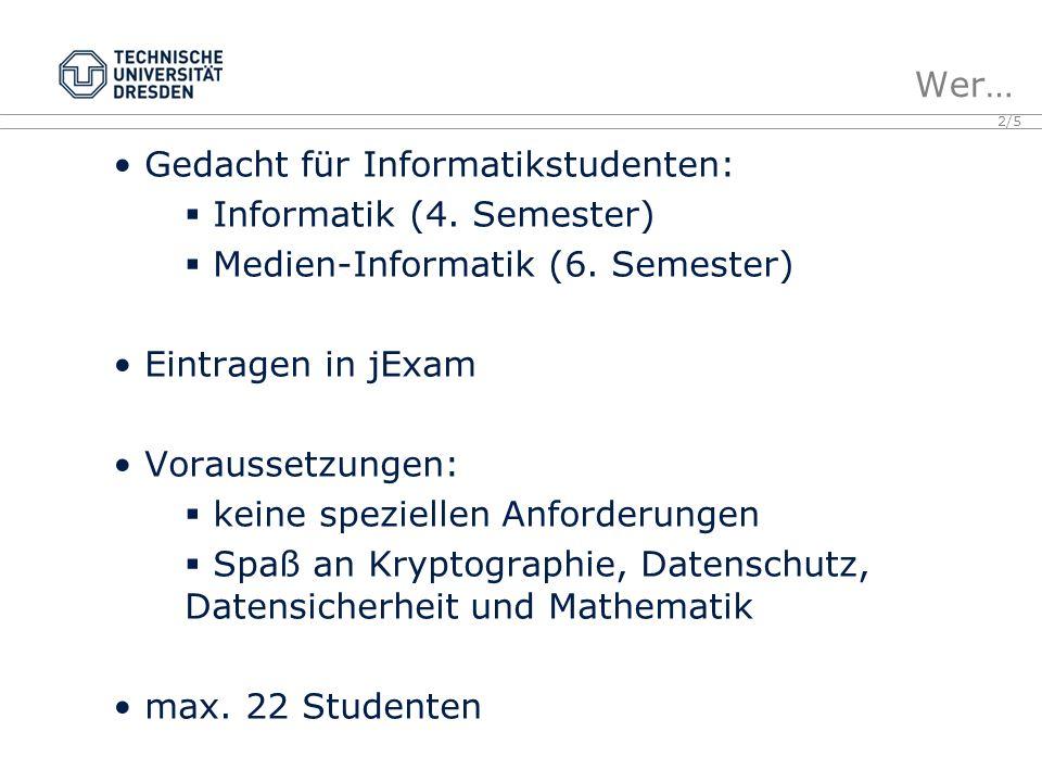 2/5 Gedacht für Informatikstudenten: Informatik (4.