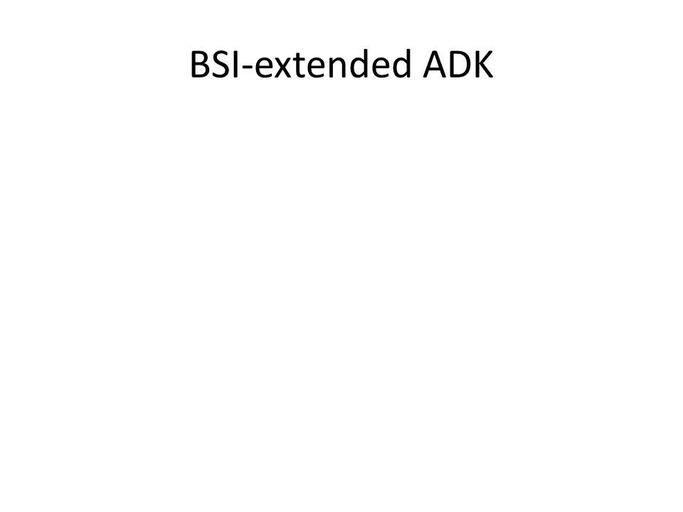 BSI-extended ADK