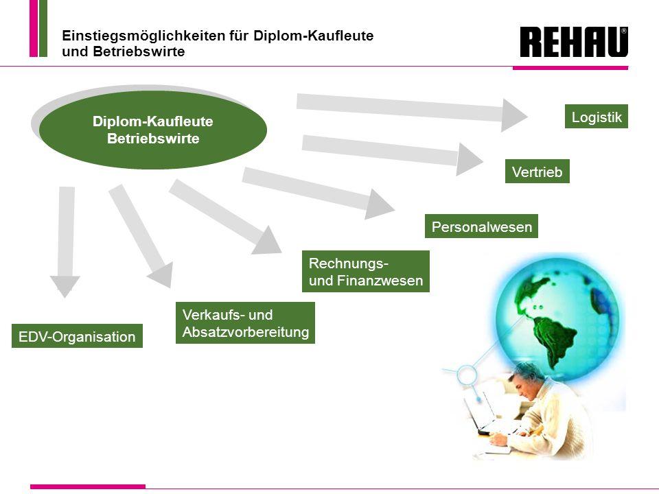 Einstiegsmöglichkeiten für Diplom-Kaufleute und Betriebswirte Diplom-Kaufleute Betriebswirte EDV-Organisation Verkaufs- und Absatzvorbereitung Rechnun