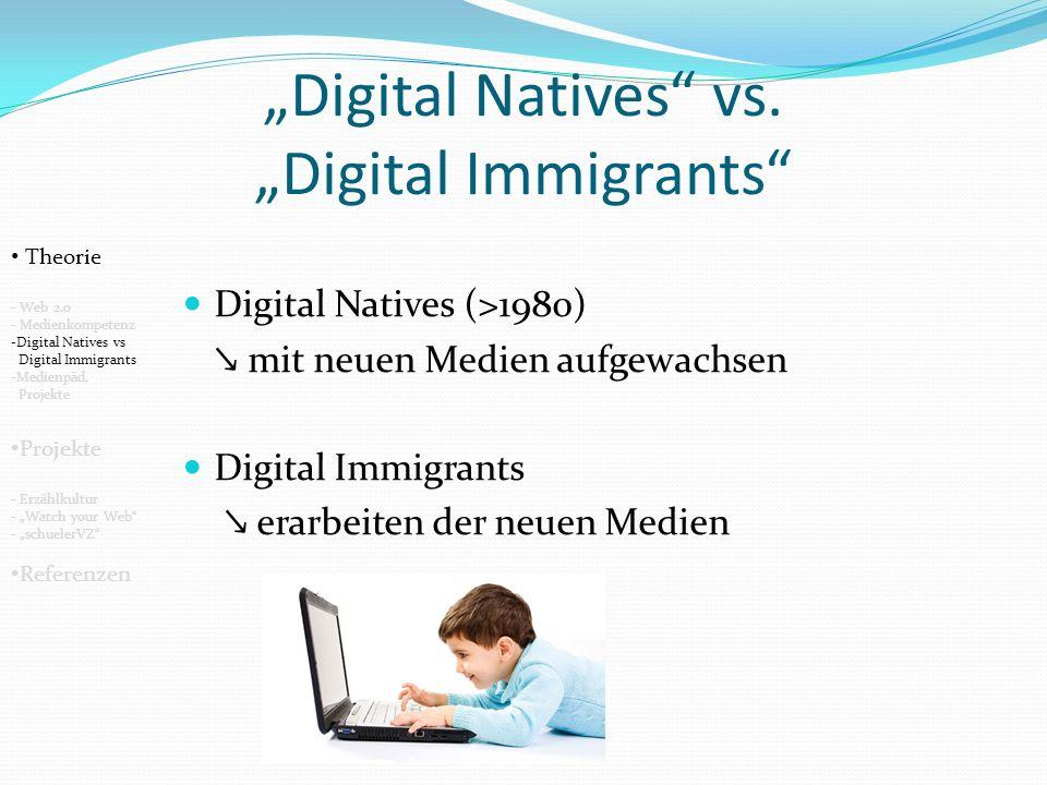 Medienpädagogische Projekte Passivität Aktivität Handeln Denken Erleben Erfahren Informationen Wissen Theorie - Web 2.0 - Medienkompetenz -Digital Natives vs Digital Immigrants -Medienpäd.