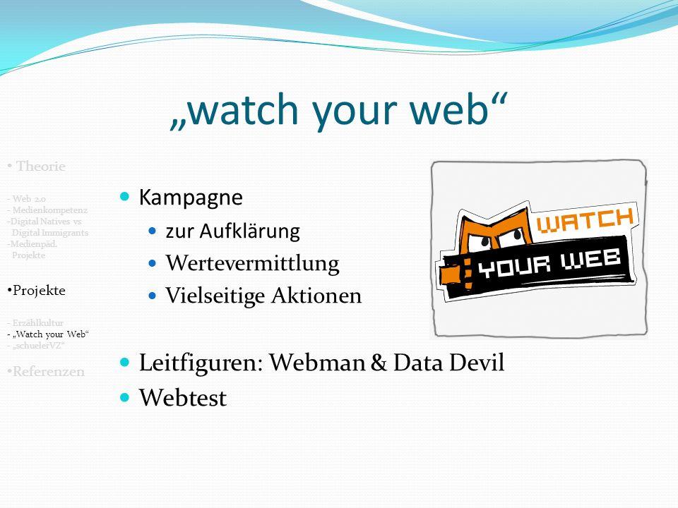 schuelerVZ Zielgruppe: Jugendliche (12-21 Jahre) beschränkt auf Deutschland => In diesem Bereich aber sehr große Verbreitung: 5.4 Mio Nutzer Theorie - Web 2.0 - Medienkompetenz -Digital Natives vs Digital Immigrants -Medienpäd.