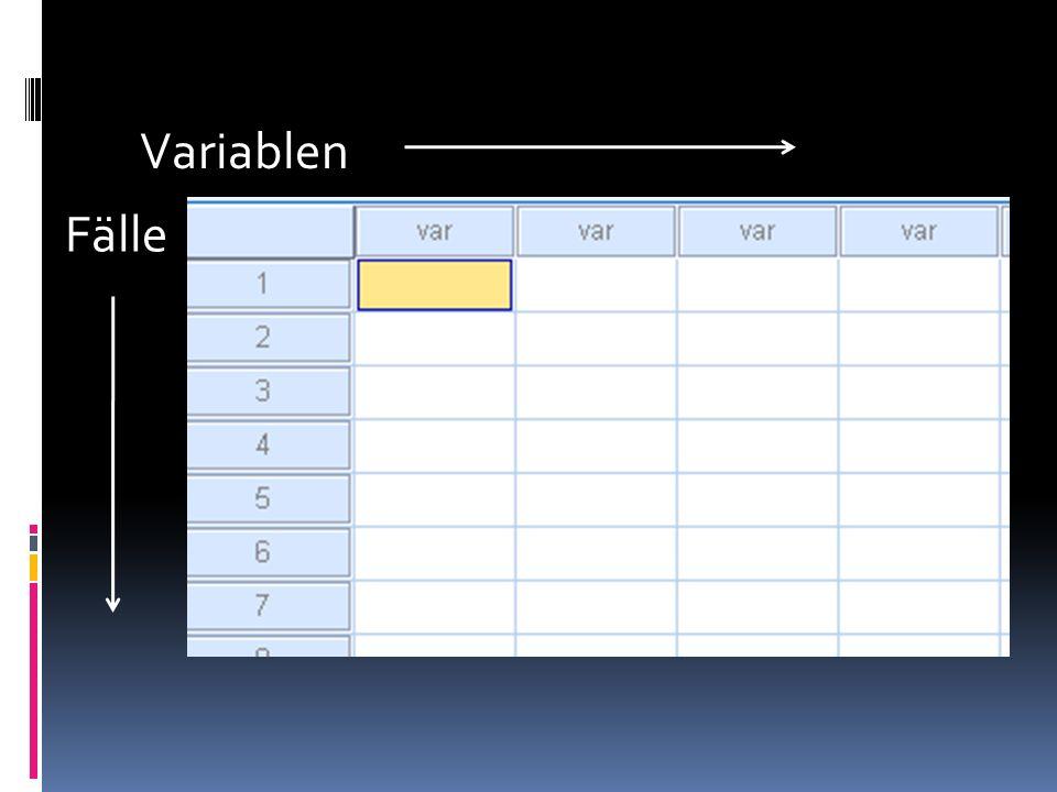 Häufigkeiten (Rezept 6/6) 1.Titel: Ermitteln Sie die Häufigkeiten für eine Variable XY 2.