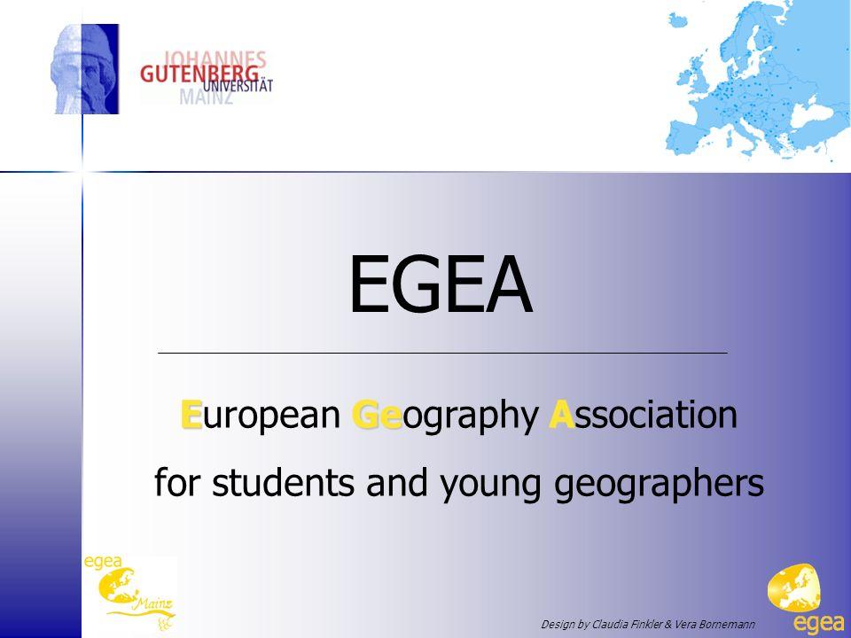 17.10.07 EGEA ist … … ein Netzwerk von Geographie- Studenten und jungen Geographen in ganz Europa 79 Entities in 28 Ländern