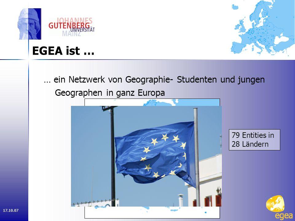 17.10.07 EGEA ist … … wissenschaftlicher und kultureller Austausch