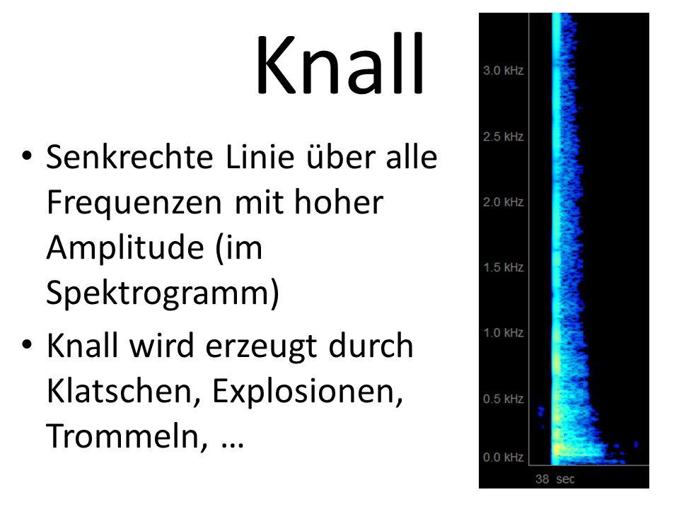 Geräusch Block über alle Frequenzen (im Spektrogramm) Z. B. Toilettenspülung, Stimmengewirr, Wasserrauschen
