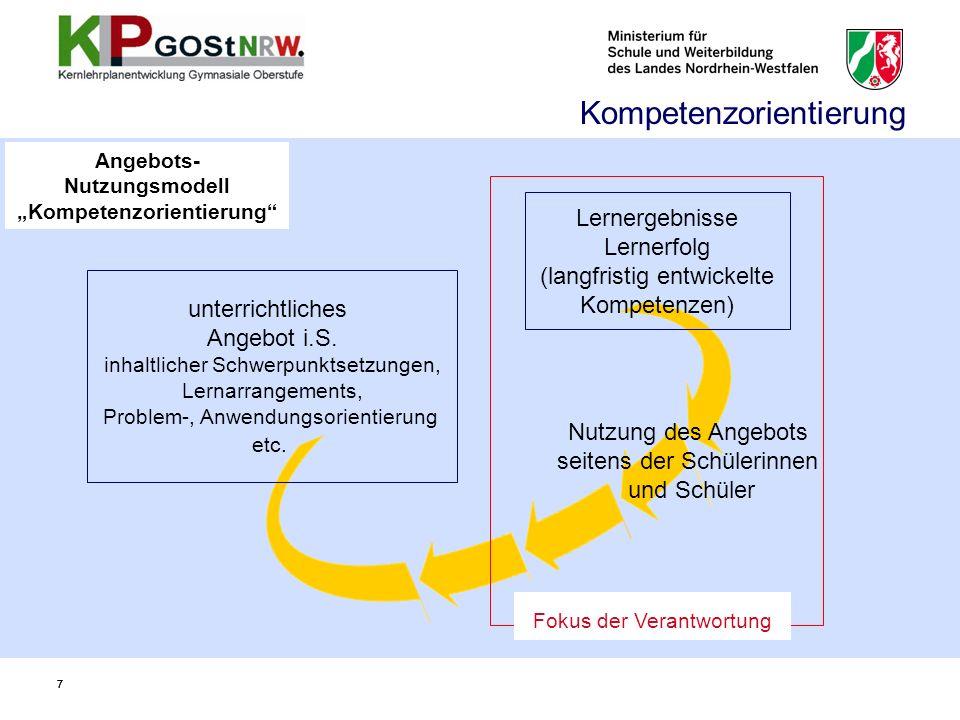 Leistungsbewertung unter Bezug auf Kompetenzbereiche … sind grundsätzlich alle … Kompetenzbereiche (Sach-, Methoden-, Urteils-, Handlungskompetenz) bei der Leistungsbewertung angemessen zu berücksichtigen.