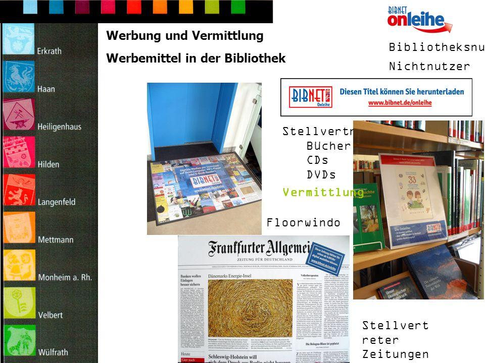 Digitaler Bilderrahmen/Dia-Show Werbemittel in der Bibliothek Displays interne Kundeninformation extern im Schaufenster