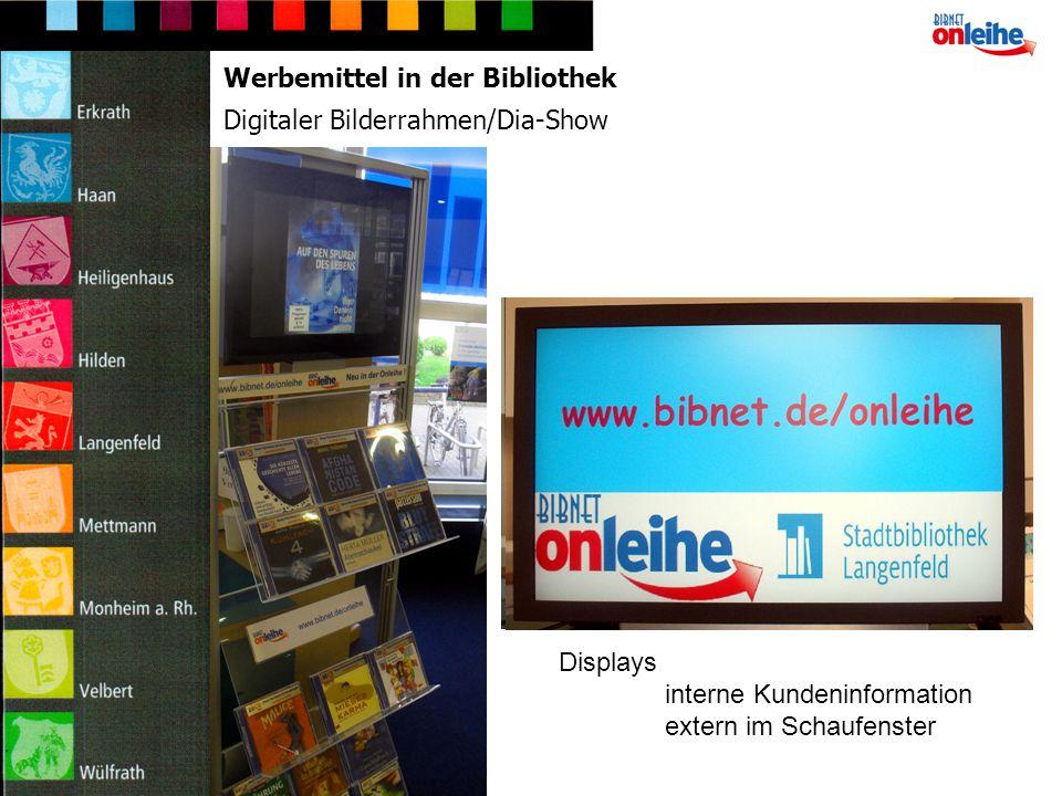 Faltblatt Vermittlung Schulung Lesezeichen individualisiert Werbemittel für interne + externe Kundeninformation