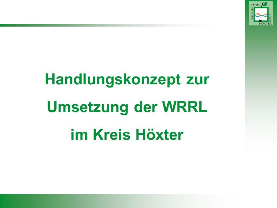 Handlungskonzept zur Umsetzung der WRRL im Kreis Höxter