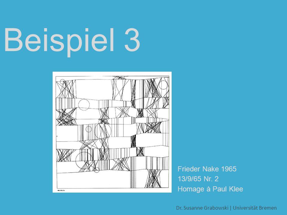 Dr. Susanne Grabowski | Universität Bremen Beispiel 3 Grabowski & Krauß 2005: Spannung