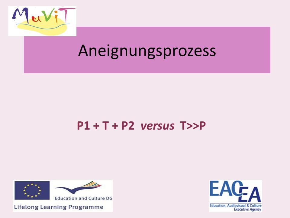 Aneignungsprozess P1 + T + P2 versus T>>P