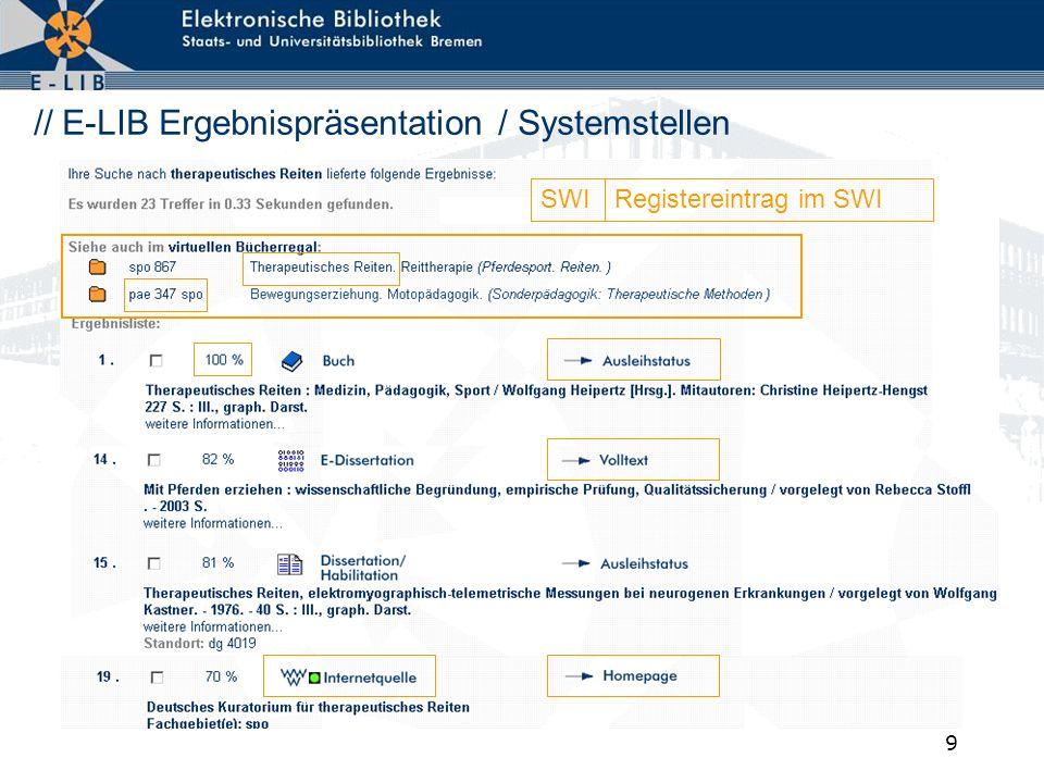10 // E-LIB - Vergleich zu klassischen pattern matching Systemen Fiktives Beispiel - Informationen über Bienen .