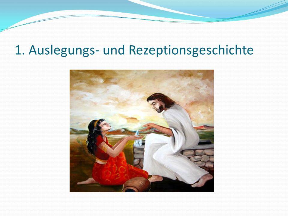 Dialog verändert BEIDE: Jesus wird zum Messias des samaritanischen Volkes und die Frau zur Botin JHWHs Frau zieht Konsequenzen aus dem Gespräch über das lebendige Wasser, sie will nicht mehr davon trinken, d.h.
