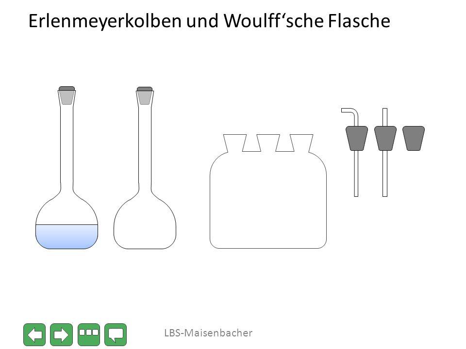 Erlenmeyerkolben und Woulffsche Flasche LBS-Maisenbacher