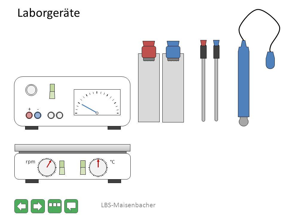 Laborgeräte °C rpm + - LBS-Maisenbacher