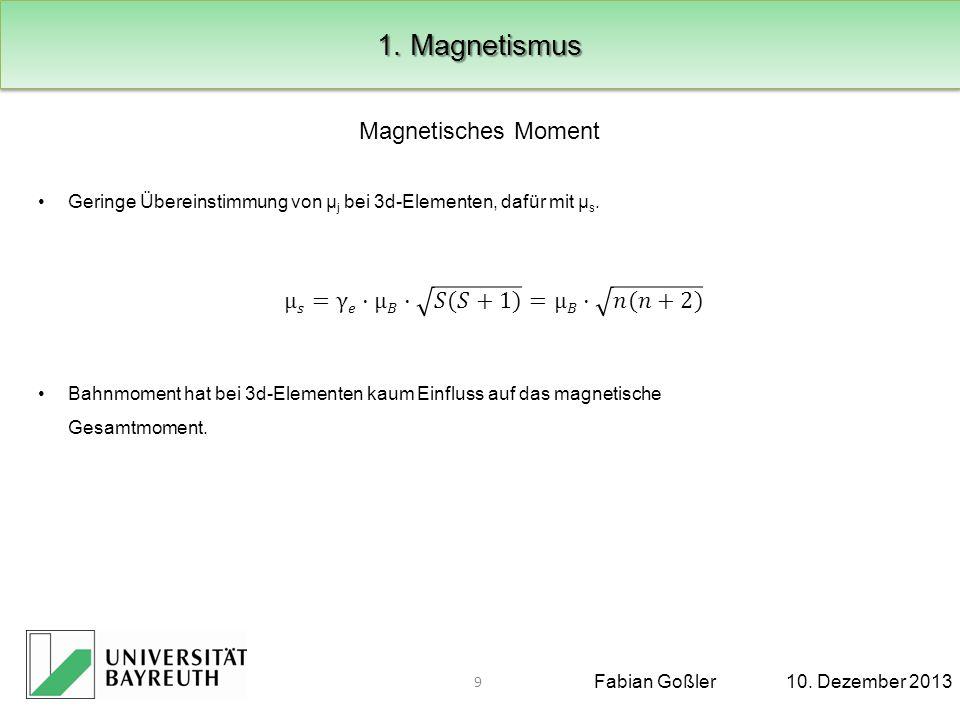 Fabian Goßler10.Dezember 2013 2. Kooperativer Magnetismus Orthogonale Orbitale Quelle: O.