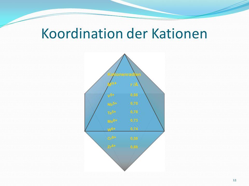 Koordination der Kationen 12