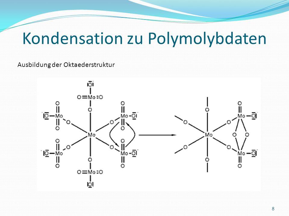 Kondensation zu Polymolybdaten 8 Ausbildung der Oktaederstruktur
