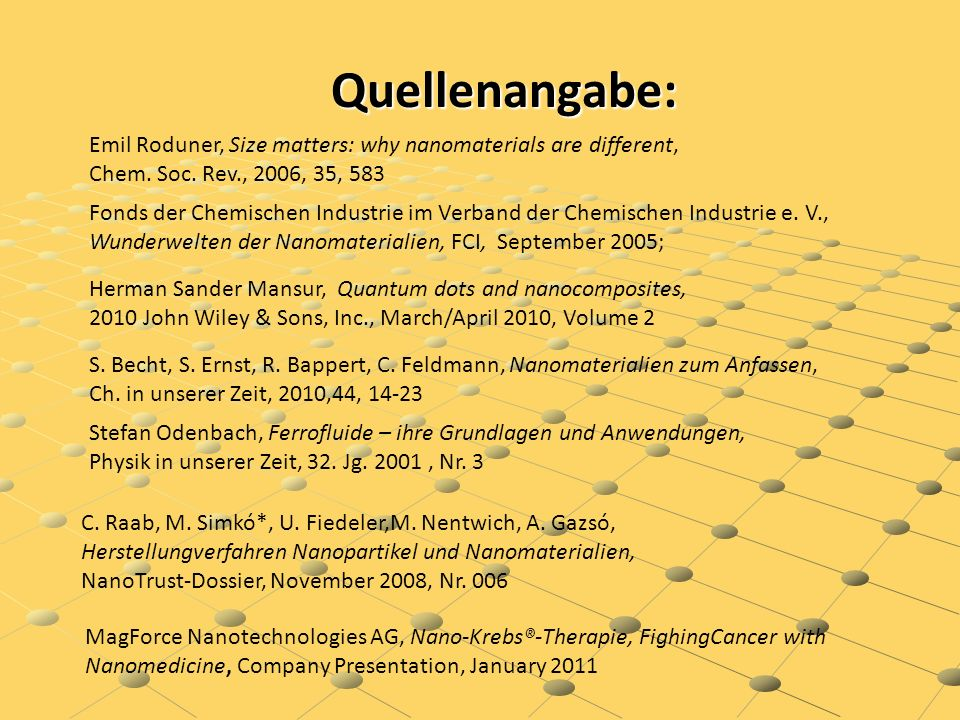 Quellenangabe: Emil Roduner, Size matters: why nanomaterials are different, Chem.