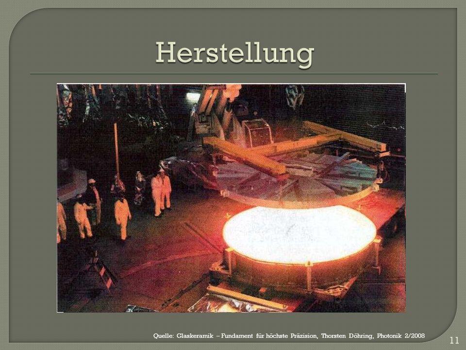 11 Quelle: Glaskeramik – Fundament für höchste Präzision, Thorsten Döhring, Photonik 2/2008