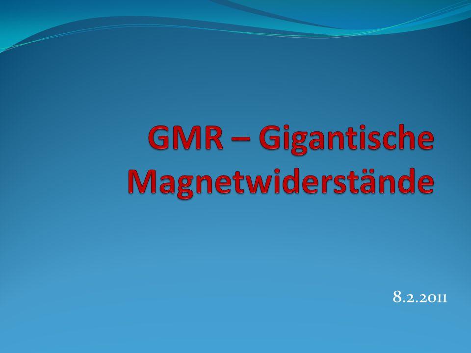 Überblick Grundlagen des Magnetismus Prinzip der Hysterese Entdeckung des GMR Funktionsprinzip des GMR Anwendungen des GMR
